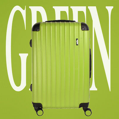 28 Green Large Hardshell ABS Travel Luggage Suitcase 4 Wheel Spinner Trolley Bag