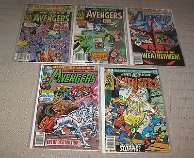 Vintage Marvel Comic Book The Avengers  Lot of 5 Comics 1980's  FREE SHIPPING