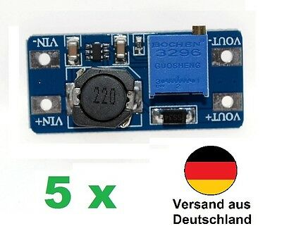 5 x MT3608 2A Max DC-DC Step Up Power Module Booster Spannungswandler