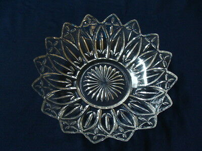 """Federal Glass Petal Clear Pattern, Large Round Serving Bowl 10"""""""