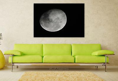 Stunning Poster Wall Art Decor Moon Night Space 36x24 Inches
