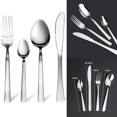 Pack of 24 Pcs Stylish Kitchen Stainless Steel Tableware Dining Kit Cutlery Home