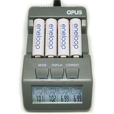 Opus BT-C700 Intelligent 4 Channels LCD Charger for NiCd NiMH Battery - EU Plug