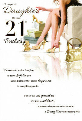 21st DAUGHTER BIRTHDAY CARD AGE 21 QUALITY MODERN DESIGN NICE VERSE