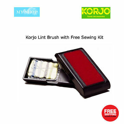 Korjo Travel Lint Brush with Free Sewing Kit -- Remove Fluff, Hair and Lint LB18
