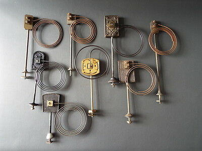 Job lot of 8 vintage mantel clock chimes gongs with metal coil spares parts