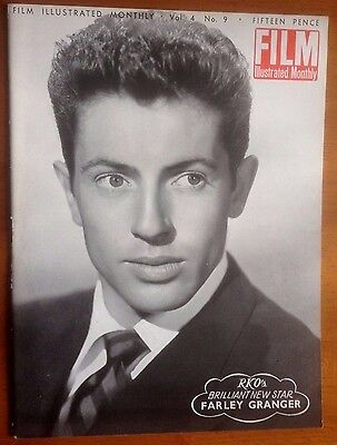 FILM ILLUSTRATED MONTHLY Vol 4 No. 9  Stage Fright, Farley Granger, Al Jolson