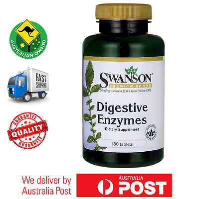 Digestive Enzymes 180 Tablets Swanson Premium - Bromelain, Betaine, Pancreatin