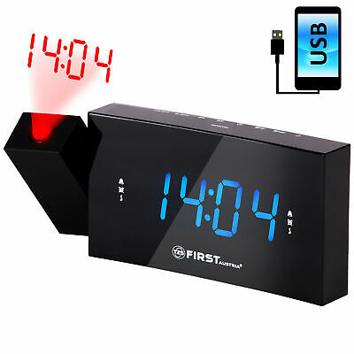 radiowecker mit projektion 1 8 zoll led display dimmbar radio wecker tagewahl eur 23 95. Black Bedroom Furniture Sets. Home Design Ideas