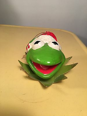 Vintage 1981 Henson Kermit the Frog Muppet Christmas Ornament
