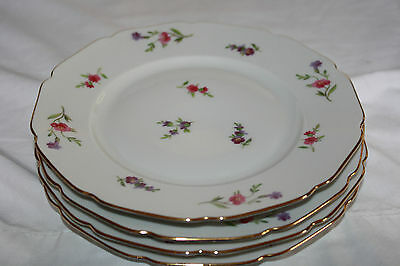 """H & Co. Selb Bavaria Germany Heinrich U.s. Zone """"victoria""""(4)Bread&butter Plates"""
