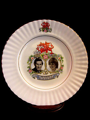 1981 Commemorative Plate Of The Wedding Of Prince Charles & Princess Diana