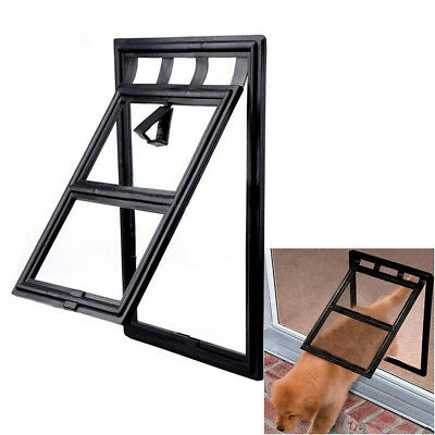 "Dog Cat Pet Screen Door For Window security Screens Black Frame 9.8"" x 7.9"" PS43"