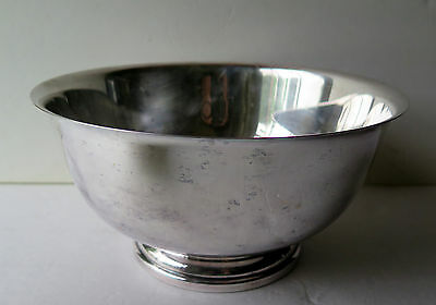 "Vintage Gorham YC 784 Silverplated Footed 10"" Salad / Fruits / Punch Bowl Lovely"