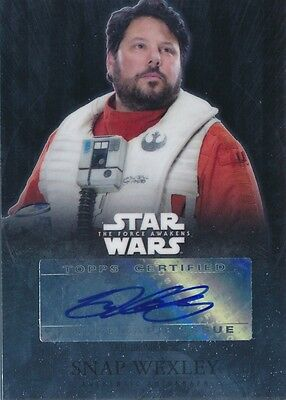 Star Wars The Force Awakens Autograph Auto Greg Grunberg Snap Wexley (C)