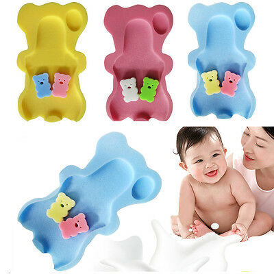 Foam Mat Safety Support Cushion Sponge Baby Toddler Bath Anti Slip Soft Bathtime