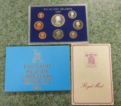 1982 Falkland Islands Liberation Proof Set! With Box and Coa