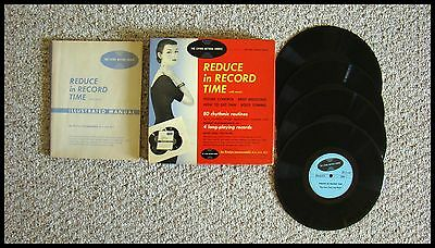 Vintage 1957 Weight Loss Course. With Manual And 4 Records