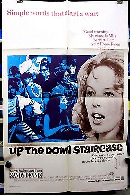 Vintage Original Warner Brothers Up The Down Staircase One Sheet Movie Poster