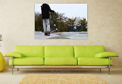 Stunning Poster Wall Art Decor Spark Scooter Autumn 36x24 Inches