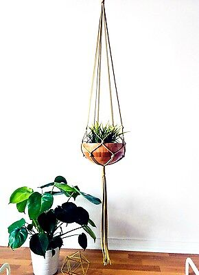 Gold Macrame Plant Hanger - 31 inches