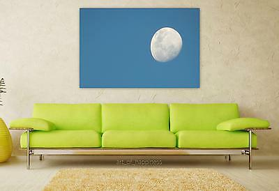 Stunning Poster Wall Art Decor Moon Day Sky 36x24 Inches