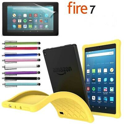 """Kids Safe ShockProof Silicone Gel Protective Case for Amazon Fire 7"""" Tablet 2017"""