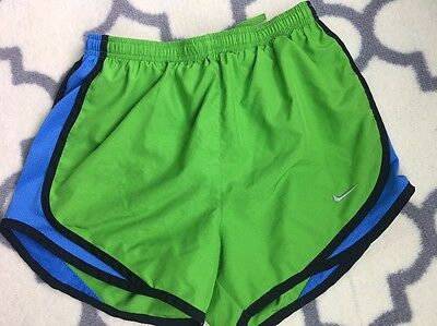 Womens Nike Dri Fit Tempo Athletic Lined Running Shorts Size XS X-Small Green
