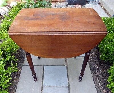 Antique 1800's Drop Side Table With Provenance History