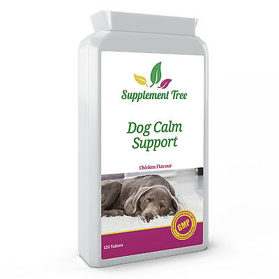 DOG CALMING 120 Tablets Pet's Natural Stress, Anxiety & Hyperactivity Support