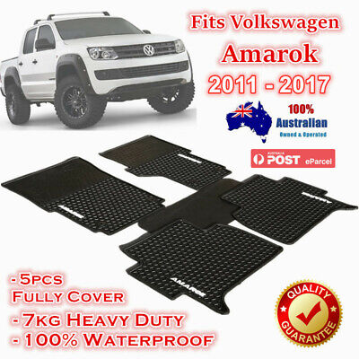 Waterproof Rubber Floor Mats Tailor Made Volkswagen Amarok 2011 - 2017 Dual Cab