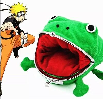 "Naruto Gama-chan Frog Toad Coin Purse Wallet 4"" US Seller"