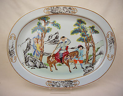 The Nelson Rockefeller Collection Mottahedeh Chinese Export Huge Platter 17 1/2""