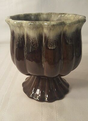 "Vintage Green Hull Usa F88 Art Pottery Ceramic Planter Compote Vase 6""  57"