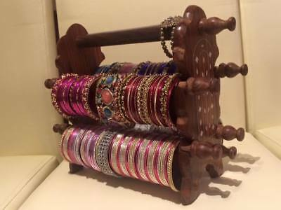 BANGLE HOLDER JEWELLERY DISPLAY WOOD GIFT INDIAN BRACELETS STAND sale sale XMAS