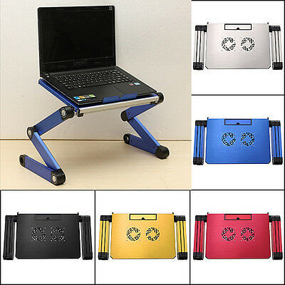 360° Adjustable Foldable Portable Desk Table Stand Bed Tray For Laptop Notebook