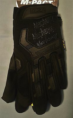 Mechanix Wear M-Pact Covert Black Tactical Gloves with XRD MPT-55-011 - Size XL