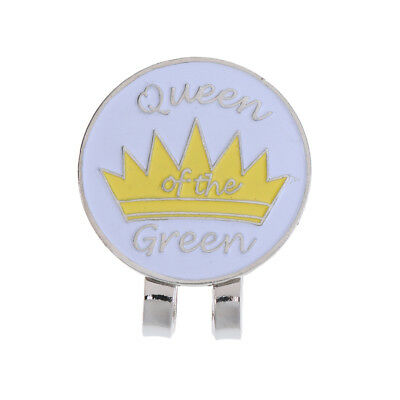Pocket Hat Clip with Magnetic Golf Ball Marker Alloy Crown Golfer Gift
