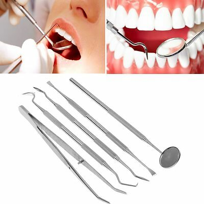 Professional Dental Plaque Remover Teeth Scraper Mouth Mirror Probe Scaler Tool