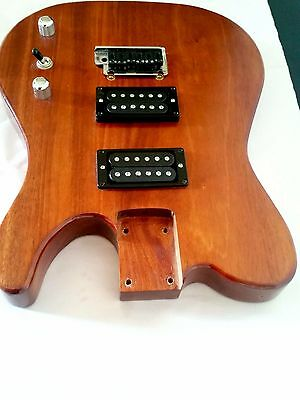 guitar body 1 piece mahogany tele strat neck pocket aud picclick au. Black Bedroom Furniture Sets. Home Design Ideas