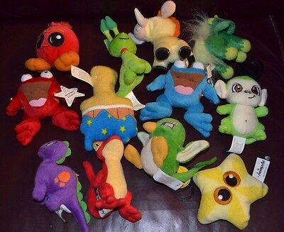 2004 McDonalds Neopets Plush Toy Mini Stuffed Animals Lot Of 12 Different