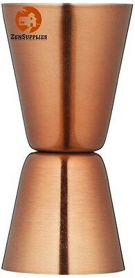 Bar Craft Luxe Lounge Stainless Steel Cocktail Jigger Copper Bar Tending Tools