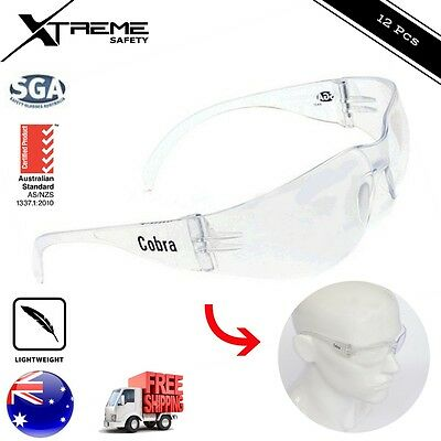 Cobra Safety Glasses Clear Lens Eye Protection Protective Eyewear 12 pcs
