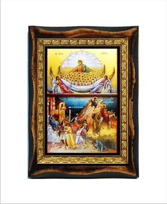 The Life and Passion of Jesus Christ Handmade  wood icon on plaque