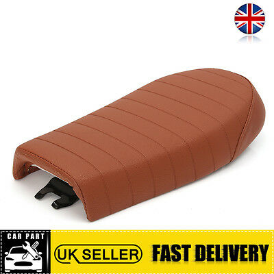 "UK 21"" Brown Cafe Racer Seat Cover For Suzuki Honda CG125 CB CL For Yamaha SR XS"