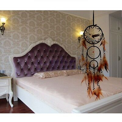 Handmade Dream Catcher With Feathers Wall Hanging Decoration Ornament Gift TW