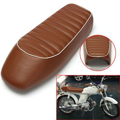 Retro Brown Motorcycle Seat Cover Cafe Racer Hump For Honda For Harley Davidson