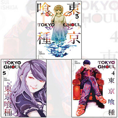 Tokyo Ghoul Collection Vol (3 - 5) 3 Books Set By Sui Ishida Paperback Brand New