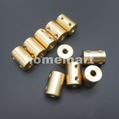 10PCS X Brass Copper Shaft Motor Coupling Coupler 5MM-10MM 6/6.35/7/8 4 Wrenches