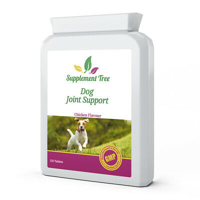 Joint Support Tablets for Dogs (120) Green Lipped Mussel Curcumin Aid Supplement